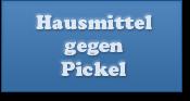 Hausmittel gegen Pickel