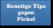 Sonstige Tipps gegen Pickel